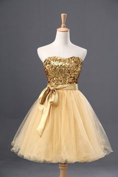 Gold Beading Homecoming Dress,Sexy Party Dress,Charming Homecoming Dress,Cheap…