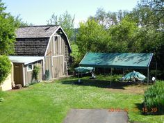 Had to move everything from inside the barn outside (to a big tent) to make room for renos inside.  What a pain!!