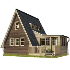 Are A-frame Cabin Kits Worth it? Wooden House Plans, Wooden House Design, A Frame House Plans, A Frame Cabin, Small House Plans, Wooden Houses, A Frame Homes, A Frame Floor Plans, Building Costs