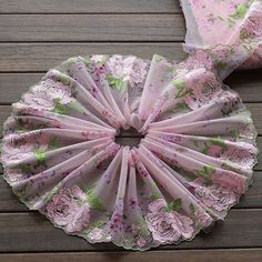Your place to buy and sell all things handmade Shabby Chic Boxes, Sewing Notions, Tulle Lace, Doll Clothes Patterns, Altered Art, Embroidery Designs, Hand Embroidery, Pink And Green, Lace Trim