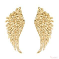Brinco de asas folheado em ouro 18k