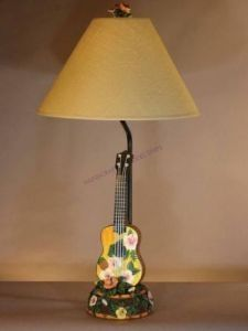 """Ukulele Electric Lamp 29"""" Nautical Decor from Handcrafted Nautical Decor - In stock and ready to ship"""