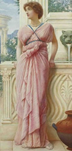 """""""A summer afternoon"""" by Henry Ryland (english painter)"""