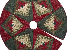 images quilted christmas tree skirts   Lone Star Log Cabin Quilt -- outstanding specially made Amish Quilts ...