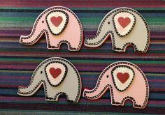 Handmade elephant fridge magnets.