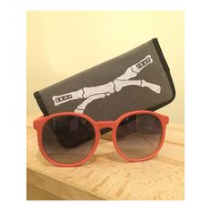 CRAP Eyewear The Human Fly Sunglasses Matte Coral sunglasses with Grey Gradient lenses. Comes with padded case. No scratches  at all (lenses and frame) and only lightly worn. Crap Eyewear Accessories Sunglasses