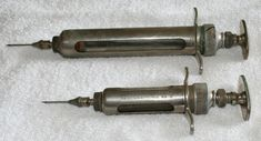 The first device recognizable as hypodermic syringe was invented in 1853 by Scottish physician Alexander Wood and French surgeon Charles Gabriel Pravaz. It was first used to inject morphine as a painkiller. Emergency Medical Services, Inventions, Health Care, Gabriel, Antiques, French, Dracula, Wood, Kansas