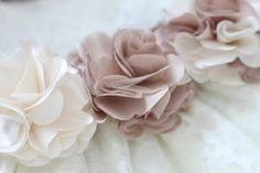 do it yourself divas: DIY: Satin and Tulle Ruffle Flower Hair Piece