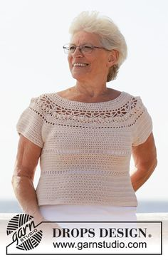 Crochet Tops ⋆ Crochet Kingdom (144 free crochet patterns) Crochet Diagram, Free Crochet, Knit Crochet, Crochet Patterns, Drops Design, Crochet Summer Tops, Cast Off, Crochet Shirt, Alpacas