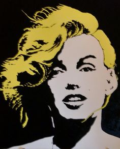 Marilyn Monroe, by Andy Warhol.                                                                                                                                                      More