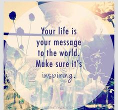 Live an inspiring life! #quote #motivation #inspirational #life #success #mrblueprint