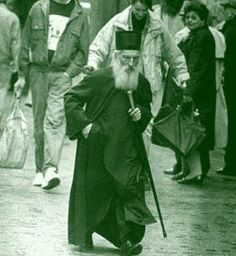 Patriarch Pavle walking the streets of Beograd./ I once heard him give a speech for an hour and every word was from the bible, and yet if you did not know the word you could not tell. Moved me to tears.