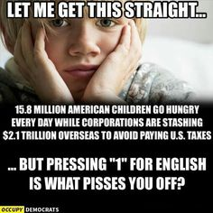Blame the immigrant and minority... to deflect the FACT the Unpatriotic RICH are Subsidized Tax Dodging Moochers!!