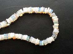 Rainbow Moonstone Square Heishi Cut Beads Rainbow by gemsforjewels