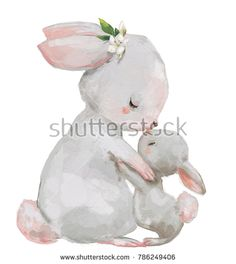 Amazing offer on Moslion Rabbit Throw Blanket Cute Animal Hare Mom Little Bunny Flower Leaves Blanket Home Decorative Flannel Warm Travel Blankets Inch Couch Bed Grey online - Topfurnitureshop Bunny Drawing, Bunny Art, Cute Bunny, Bunny Bunny, Animal Drawings, Cute Drawings, Hase Tattoos, Cartoon Mignon, Lapin Art