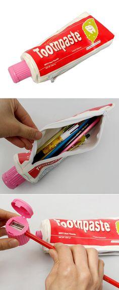 [BABOSARANG] 아무리 짜도 치약은 안나와요 /파우치/필통/패러디필통/재밌는필통/학용품/아이디어상품/디자인문구/Pouches/Pencil case/Parody/unny Cases/School Supplies/Stationery design/The idea