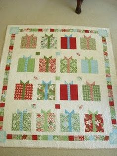 A great way to use a variety of Christmas fabrics...