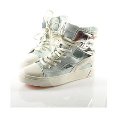 c467f520f5f4 Canvas Cut Out High Top Trainers ( 85) ❤ liked on Polyvore Wedge Sneakers