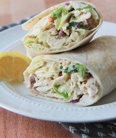 Wrap au poulet césar! Hmmm #wrap #poulet #recette #santé