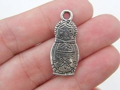 6 Russian Matryoshka doll charms double sided by nicoledebruin