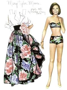 Mary Tyler Moore paper doll by Marilyn Henry / Bobe Green picasaweb.google.com