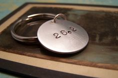 "Marathon Hand Stamped Keyring- for your friend ""the runner."""