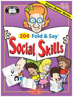 Another great find on 204 Fold & Say Social Skills Workbook Set by Super Duper Publications Social Skills Lessons, Social Skills Activities, Teaching Social Skills, Counseling Activities, Social Emotional Learning, Life Skills, Speech Activities, Elementary School Counseling, School Social Work