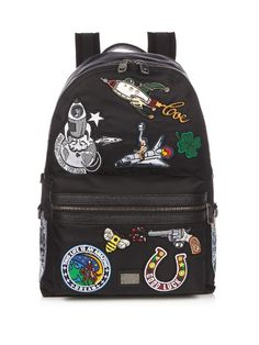 Dolce & Gabbana Patch-appliqué Nylon Backpack