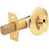 """Kwikset 663 Security Series One Sided Deadbolt - Satin Chrome by Kwikset. $6.76. 663 Kwikset Security Series One Sided Deadbolt - Satin ChromeCrossbore 1-5/8""""Edge Bore 1""""Latch Face 1"""" x 2-1/4""""Door thickness: 1-3/8""""-1-3/4"""" doors standard.Bolt: 1"""" throwFeatures a fully adjustable latch & deadbolt to fit all standard door preparationsANSI/BHMA Grade 3 SecurityAdd to a keyed knob or lever for additional securityLifetime mechanical and finish warranty"""