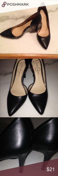 Pumps 3 1/2 inch pumps little wear on heels.  But in great condition. Jessica Simpson Shoes Heels