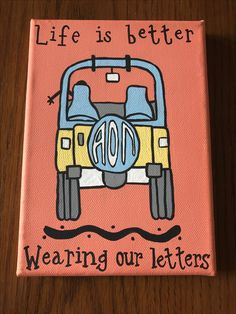 Life is better wearing our Letters AOII sorority canvas Alpha Omicron Pi, Alpha Sigma Alpha, Gamma Phi, Sigma Kappa, Sorority Letters, Sorority Canvas, Sorority Crafts, Sorority Quotes, Big Little Week