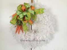Easter Carrot Wreath by thewreaths.com
