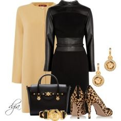 Versace and Black dress