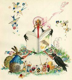 Felix Lorioux's, illustration from Fables De La Fontaine