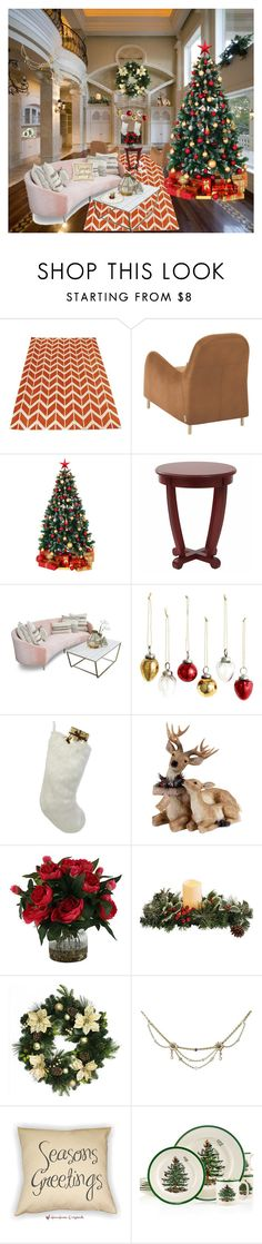 """Oh Christmas Tree..."" by k-hearts-a ❤ liked on Polyvore featuring interior, interiors, interior design, home, home decor, interior decorating, H&M, Helen Moore and Spode"