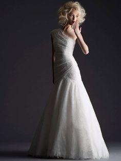wedding dress from Cymbeline Paris- 2014 bridal collection | via junebugweddings.com