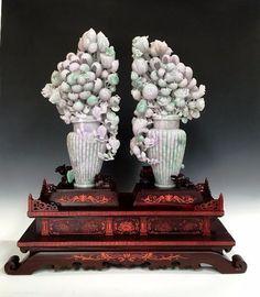 Found on EstateSales.NET: JD614 Pair Flower Vase 30H x 28.5W x 10D $430,000