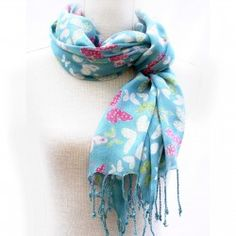 Blue Butterfly Print Scarf for Women Butterfly Print, Blue Butterfly, Buy Peonies, Womens Scarves, Jewellery, Accessories, Fashion, Moda, Jewels