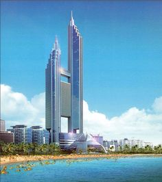LCT Landmark Tower, Busan, South Korea.  412m | 1350ft | 101 fl. (Old rendering)