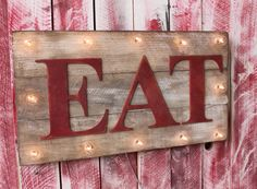 EAT Lighted JUNK pLanK