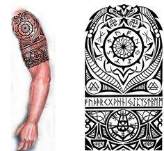 Norse half sleeve tattoo
