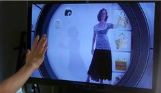 Xbox Kinect takes virtual shopping to the next level with their shopping platform: KinectShop. People can try on clothes in true 3-D, view their items in various angles, and share photos with friends.