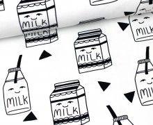 Sweat - We Love Milk - GOTS - Andrea Lauren - Weiß