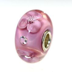 Trollbeads Gallery - Pale Rose Flower Diamond Bead WIth A Twist:06, $55.00 (http://www.trollbeadsgallery.com/pale-rose-flower-diamond-bead-with-a-twist-06/)