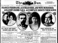 In an event that is widely acknowledged to have sparked the outbreak of World War I, Archduke Franz Ferdinand, nephew of Emperor Franz Josef and heir to the Austro-Hungarian Empire, is shot to death along with his wife, Duchess Sophie, by a Serbian nationalist (of the Black Hand) in Sarajevo, Bosnia, on this day in 1914.