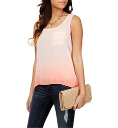 Coral Ombre Tank $19