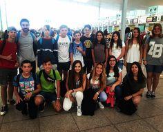 Lis chicos y chicas de #Donegal con ganas de descubrir #Irlanda #Barcelona #WeLoveBS  #inglés #idiomas #cursos #viaje #travel #aeropuerto #padres #jóvenes #adolescentes