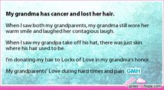True love - My grandma has cancer and lost her hair.