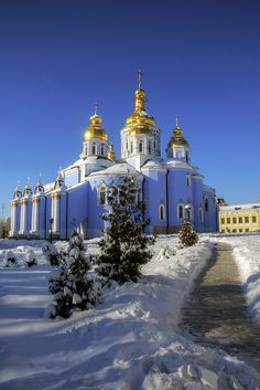 winter in kiev by mariusz621, via Flickr  I miss Ukraine for its beautiful architecture and fabulous people! Good food, too.