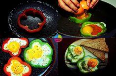 Huevos pimientos.
